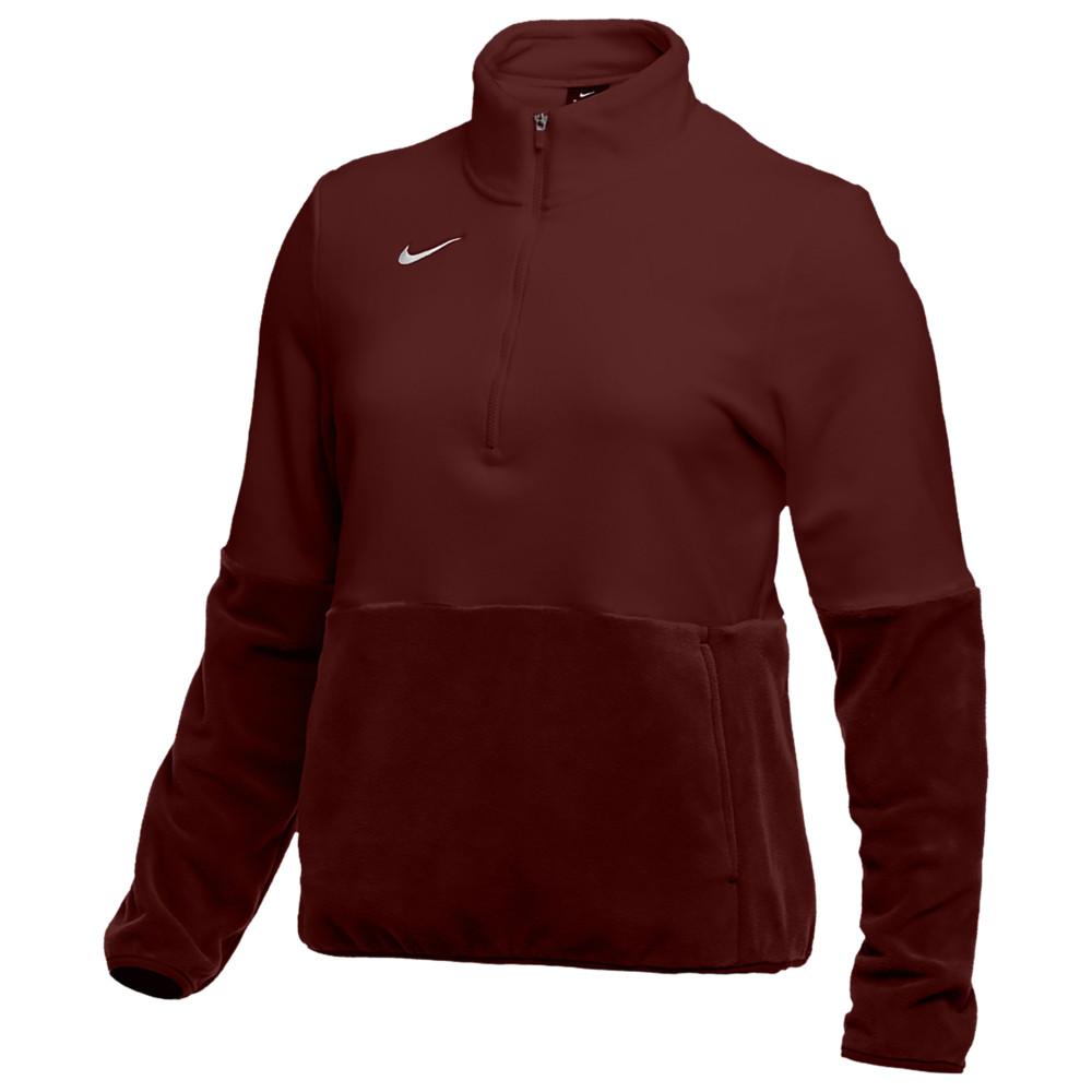 ナイキ Nike レディース フィットネス・トレーニング ハーフジップ トップス【Team Authentic Fleece 1/2 Zip Top】Deep Maroon/White