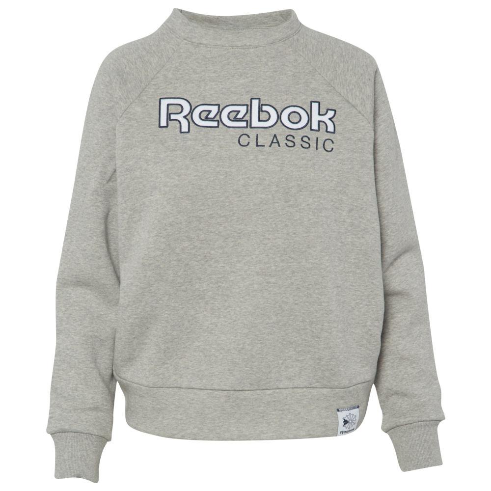 リーボック Reebok レディース フリース トップス【Iconic Fleece Crew】Medium Grey Heather
