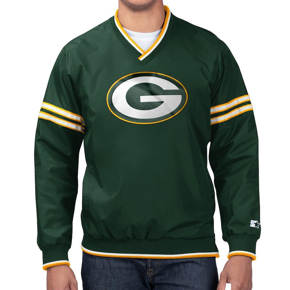 スターター Starter メンズ ジャケット アウター【NFL Game Day Trainer II PO Jacket】NFL Green Bay Packers Green