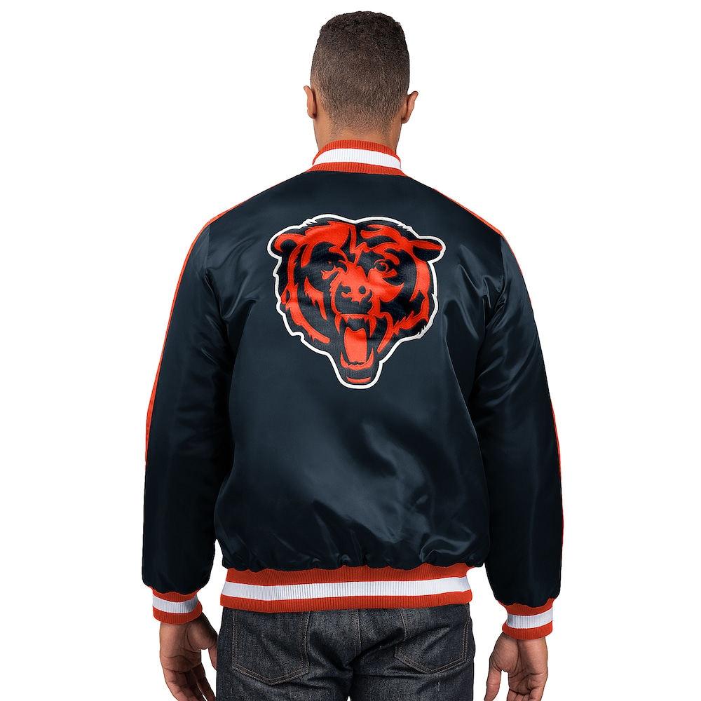 スターター Starter メンズ ブルゾン アウター【NFL The O-Line Varsity Jacket】NFL Chicago Bears Navy