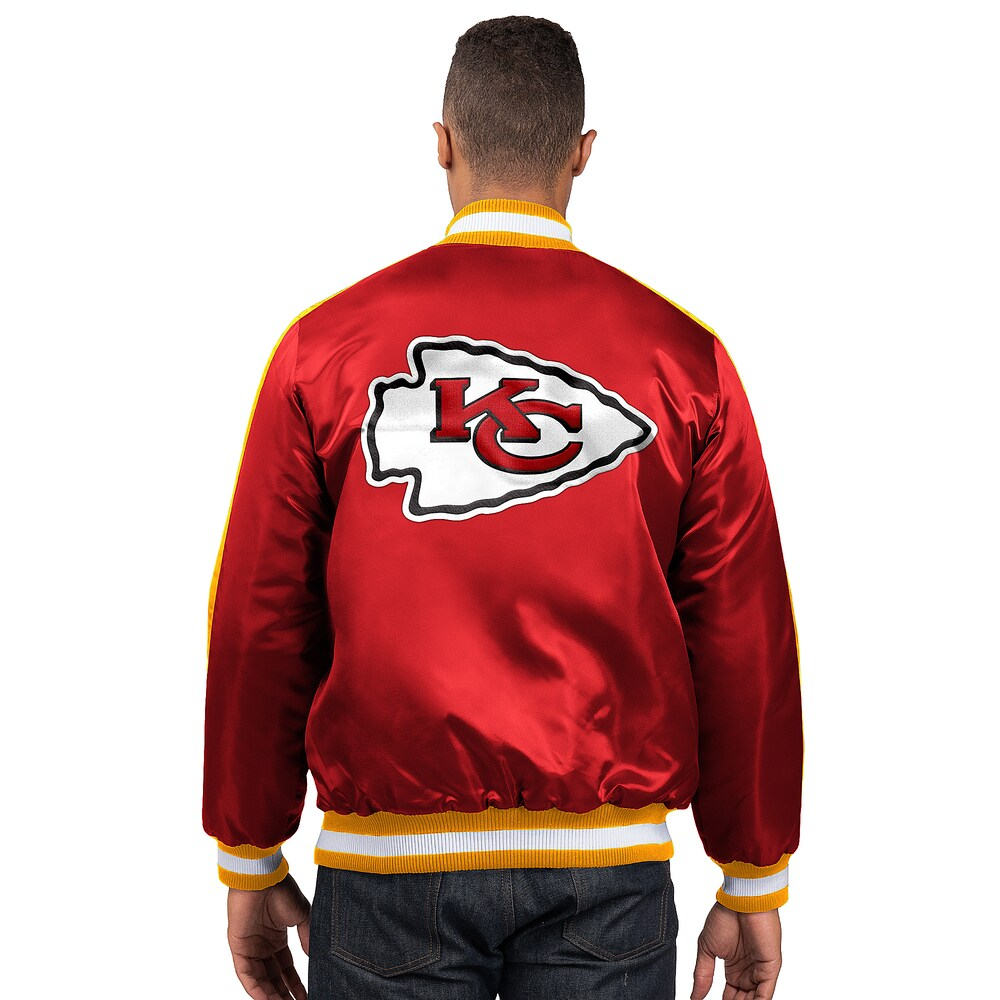 スターター Starter メンズ ブルゾン アウター【NFL The O-Line Varsity Jacket】NFL Kansas City Chiefs Red