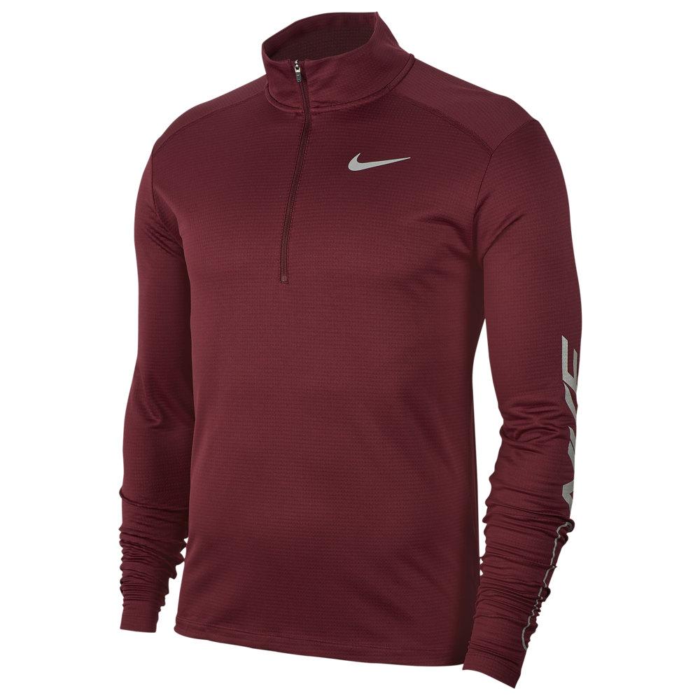 ナイキ Nike メンズ ランニング・ウォーキング ハーフジップ トップス【Pacer 1/2 Zip Top】Night Maroon/Team Red/Reflective Silver Flash Pack