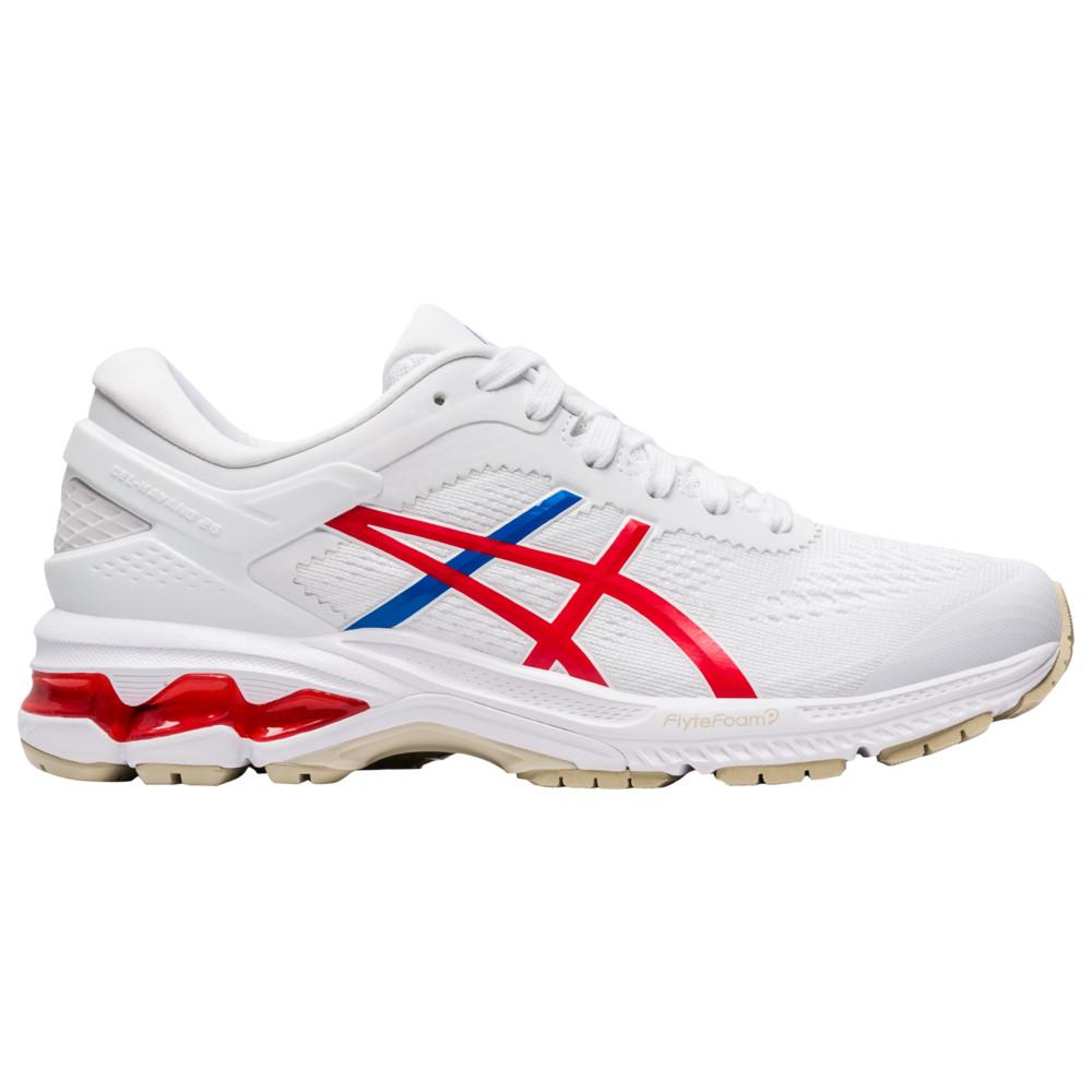 アシックス ASICS レディース ランニング・ウォーキング シューズ・靴【GEL-Kayano 26】White/Classic Red Retro Tokyo