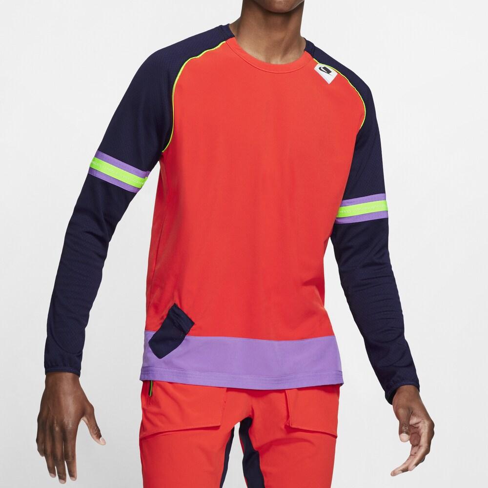 ナイキ Nike メンズ ランニング・ウォーキング ミッドレイヤー トップス【Wild Run Midlayer Long Sleeve】Habanero Red/Black
