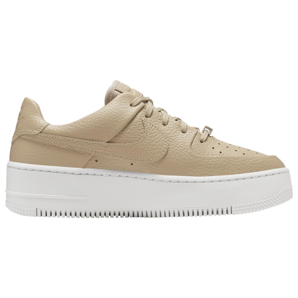 ナイキ Nike レディース バスケットボール エアフォースワン シューズ・靴【Air Force 1 Sage Low】Desert Orange/White/White