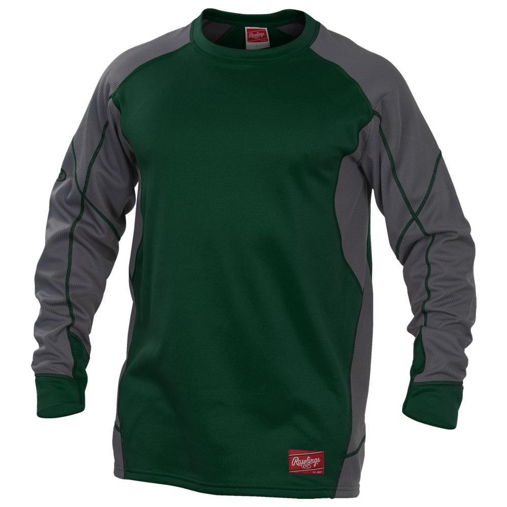 ローリングス Rawlings メンズ フリース トップス【Dugout Fleece Pullover】Dark Green