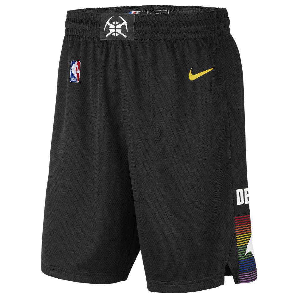 ナイキ Nike メンズ バスケットボール ショートパンツ ボトムス・パンツ【NBA City Edition Swingman Shorts】NBA Denver Nuggets Black/Amarillo