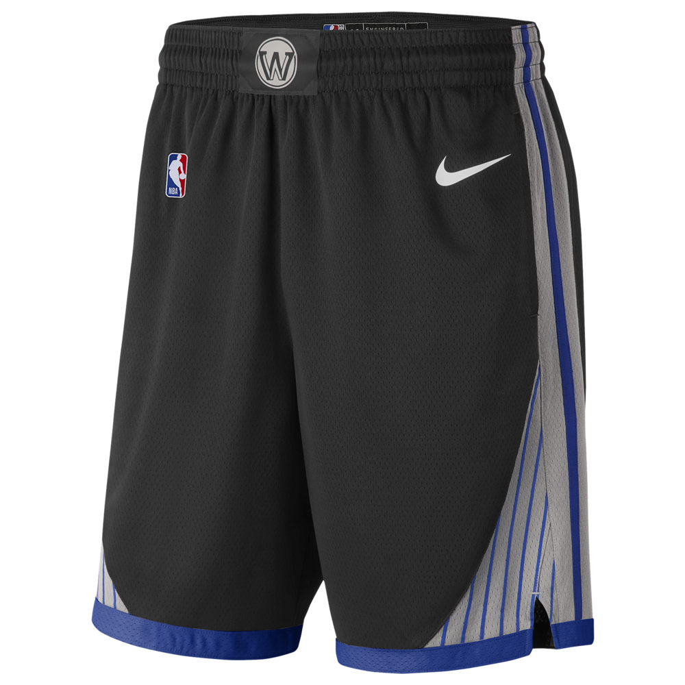 ナイキ Nike メンズ バスケットボール ショートパンツ ボトムス・パンツ【NBA City Edition Swingman Shorts】NBA Golden State Warriors Black/Dark Grey/Rush Blue