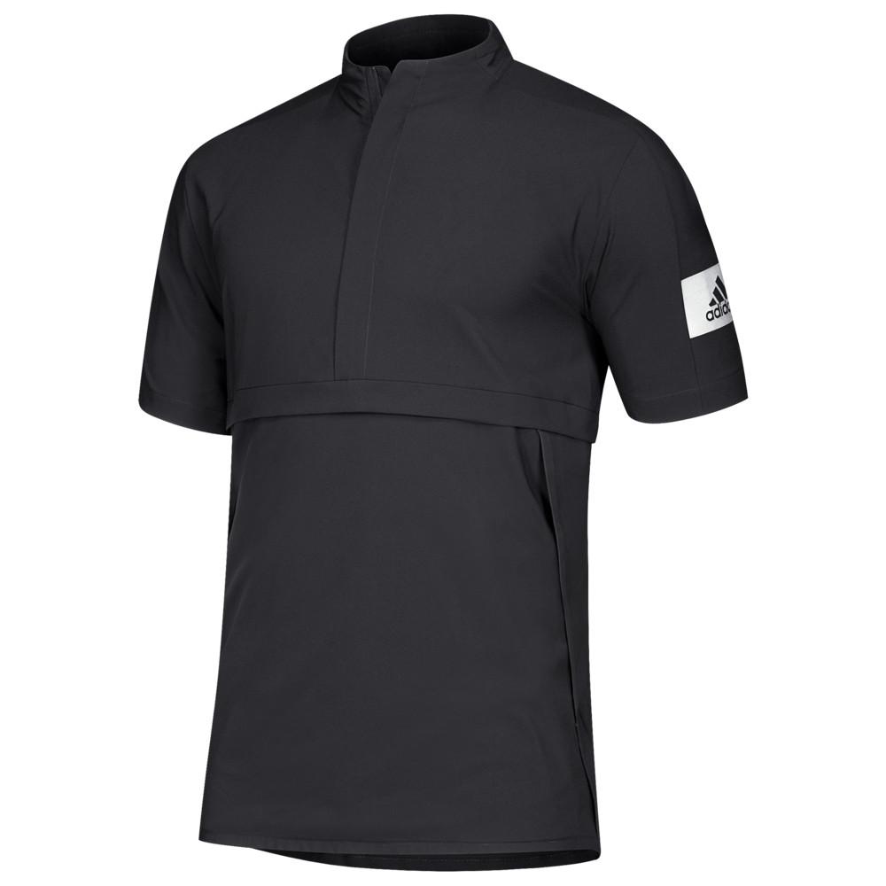 アディダス adidas メンズ フィットネス・トレーニング ジャケット アウター【Team Game Mode S/S 1/4 Zip Jacket】Black/White