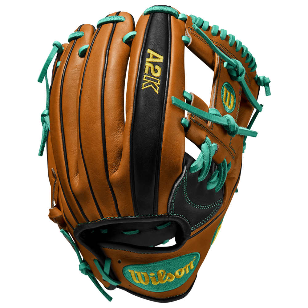ウィルソン Wilson メンズ 野球 グローブ【A2K】Matt Chapman Orange Tan/Black/Kelly Green . Worn on Left Hand.