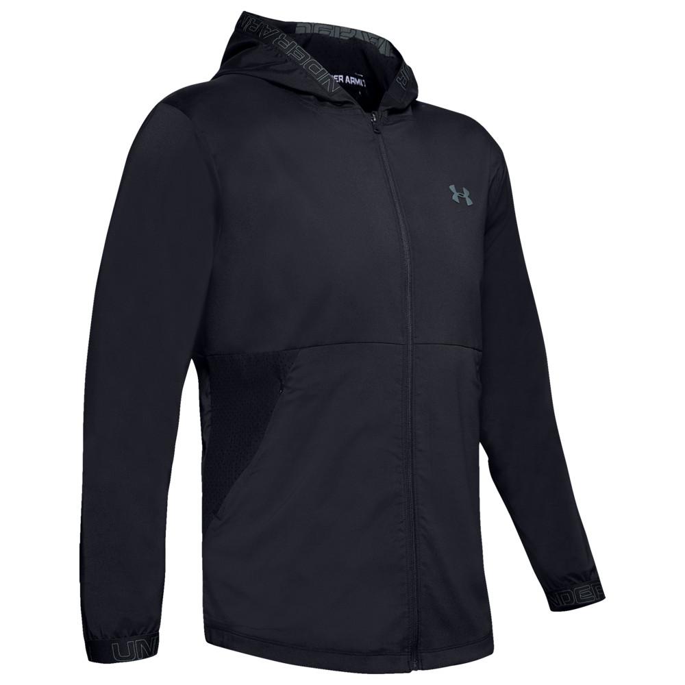 アンダーアーマー Under Armour メンズ フィットネス・トレーニング ジャケット アウター【Vanish Woven Jacket】Black/Pitch Grey