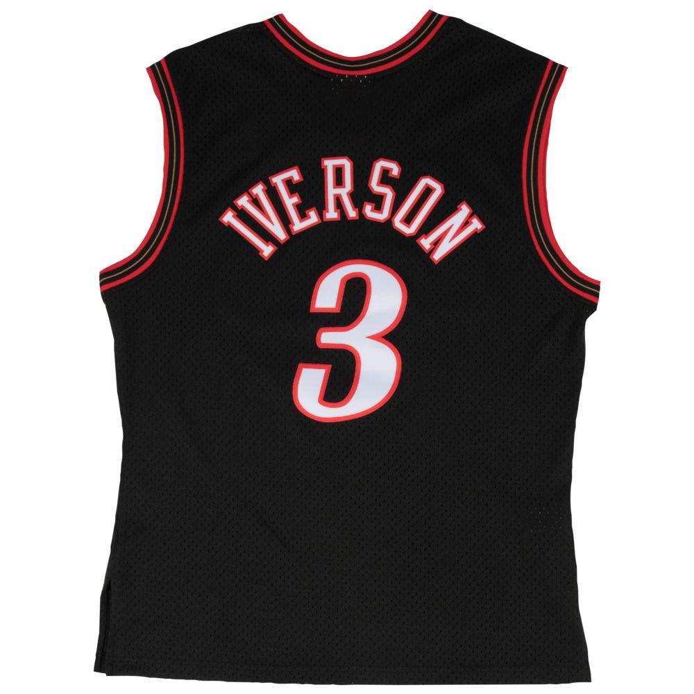 ミッチェル&ネス Mitchell & Ness メンズ バスケットボール トップス【NBA Swingman Jersey】NBA Philadelphia ers Allen Iverson Black to