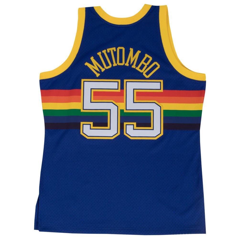 ミッチェル&ネス Mitchell & Ness メンズ バスケットボール トップス【NBA Swingman Jersey】NBA Denver Nuggets Dikembe Mutombo Royal