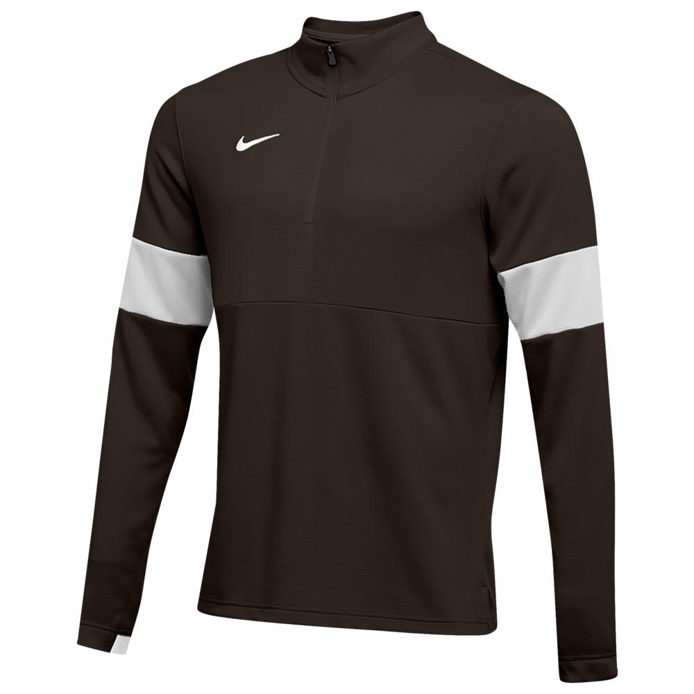 ナイキ Nike メンズ フィットネス・トレーニング ハーフジップ トップス【Team Authentic Therma 1/2 Zip Top】Dark Cinder/Flat Silver/Flat Silver