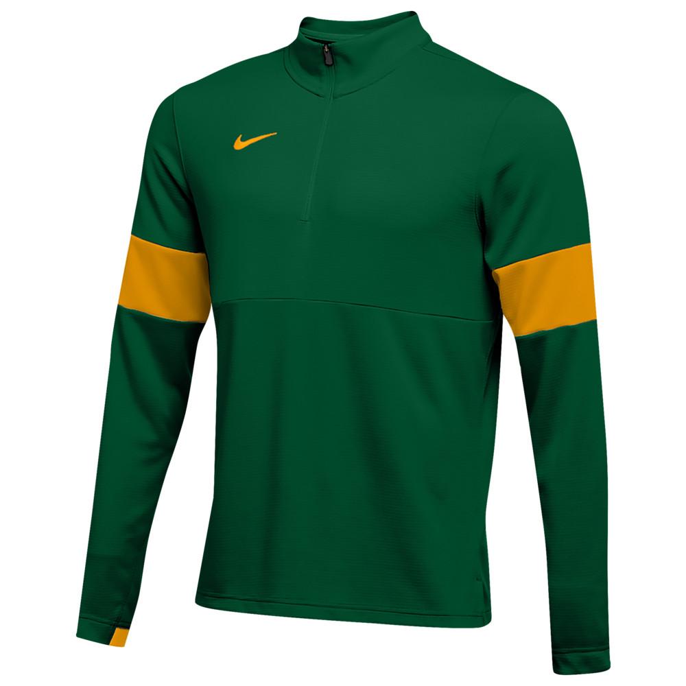 ナイキ Nike メンズ フィットネス・トレーニング ハーフジップ トップス【Team Authentic Therma 1/2 Zip Top】Gorge Green/Sundown/Sundown