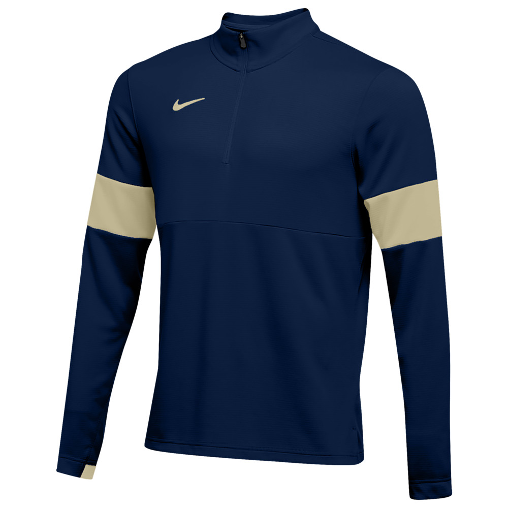 ナイキ Nike メンズ フィットネス・トレーニング ハーフジップ トップス【Team Authentic Therma 1/2 Zip Top】College Navy/Team Gold/Team Gold