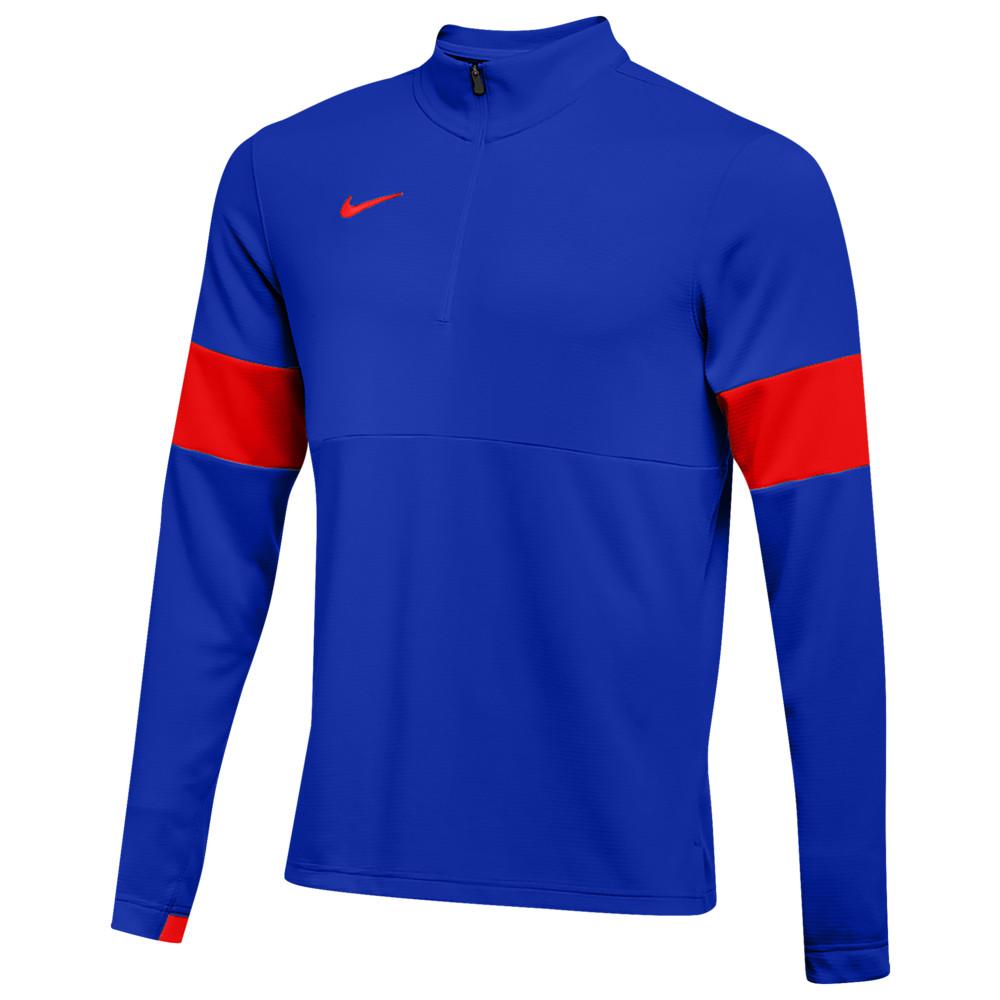 ナイキ Nike メンズ フィットネス・トレーニング ハーフジップ トップス【Team Authentic Therma 1/2 Zip Top】Game Royal/University Red/University Red