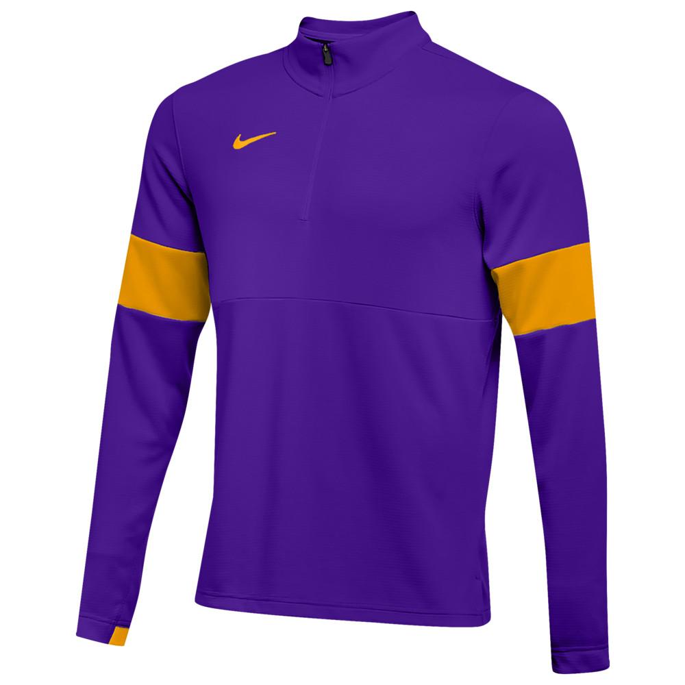 ナイキ Nike メンズ フィットネス・トレーニング ハーフジップ トップス【Team Authentic Therma 1/2 Zip Top】Court Purple/Sundown/Sundown