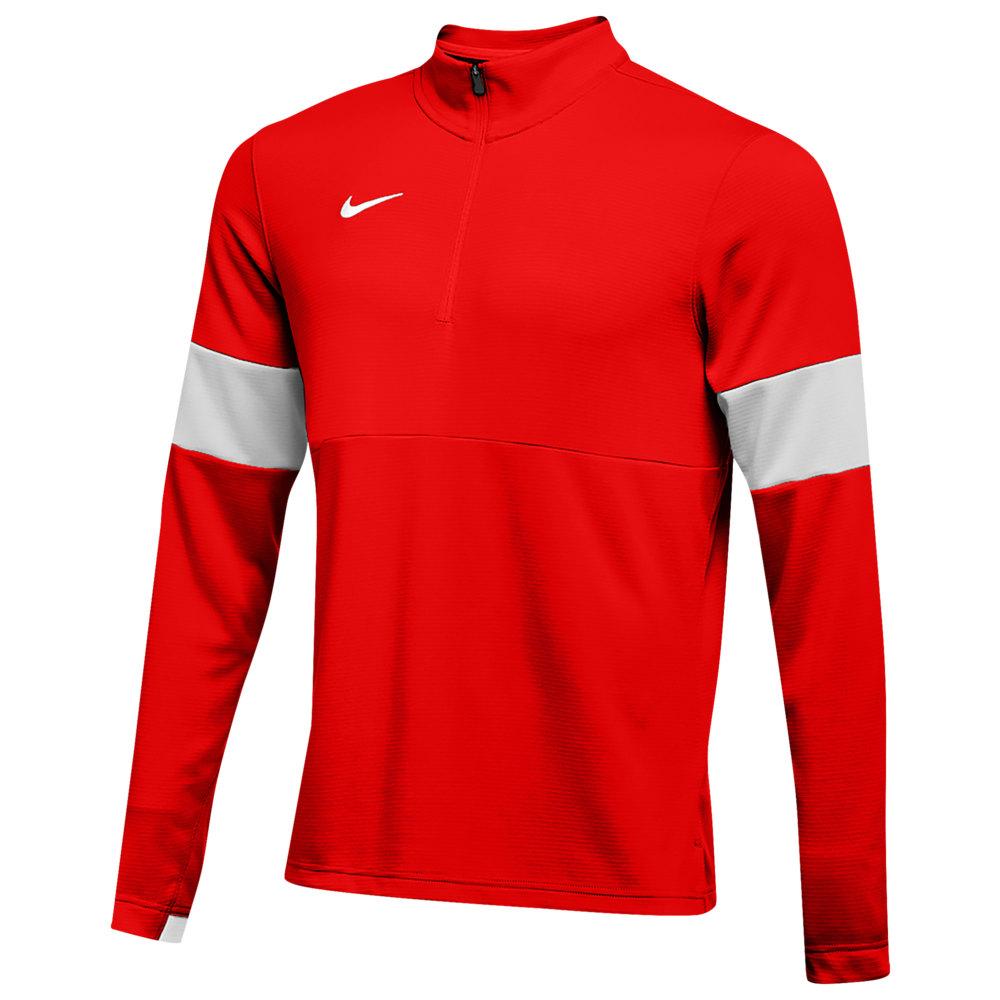 ナイキ Nike メンズ フィットネス・トレーニング ハーフジップ トップス【Team Authentic Therma 1/2 Zip Top】University Red/Flat Silver/Flat Silver