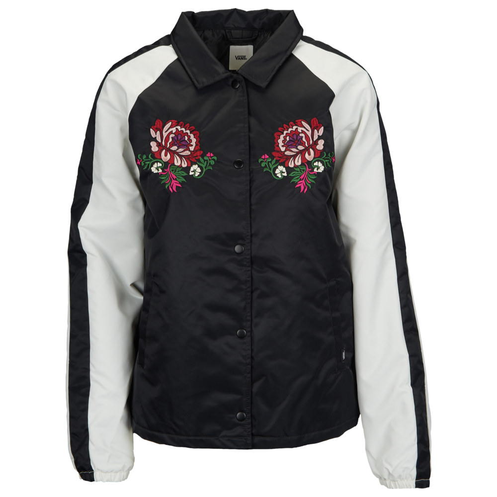 ヴァンズ Vans レディース ジャケット コーチジャケット アウター【Outshine Floral Coaches Jacket】Black/White