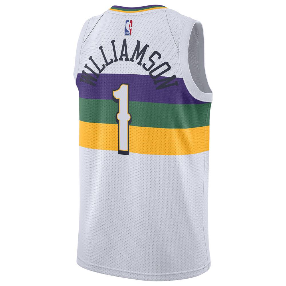 ナイキ Nike メンズ バスケットボール トップス【NBA City Edition Swingman Jersey】NBA New Orleans Pelicans Zion Williamson White
