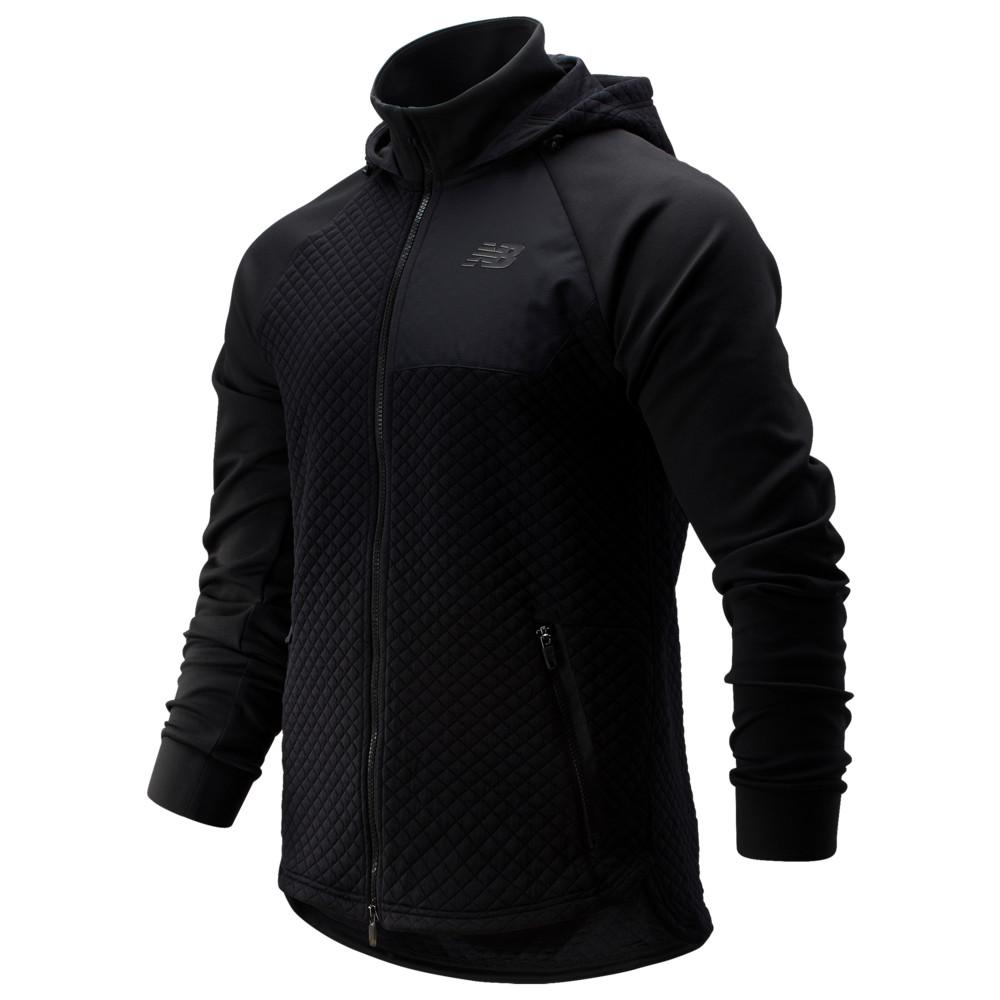 ニューバランス New Balance メンズ フリース フード トップス【Heat Loft Full-Zip Fleece Hooded Jacket】Black
