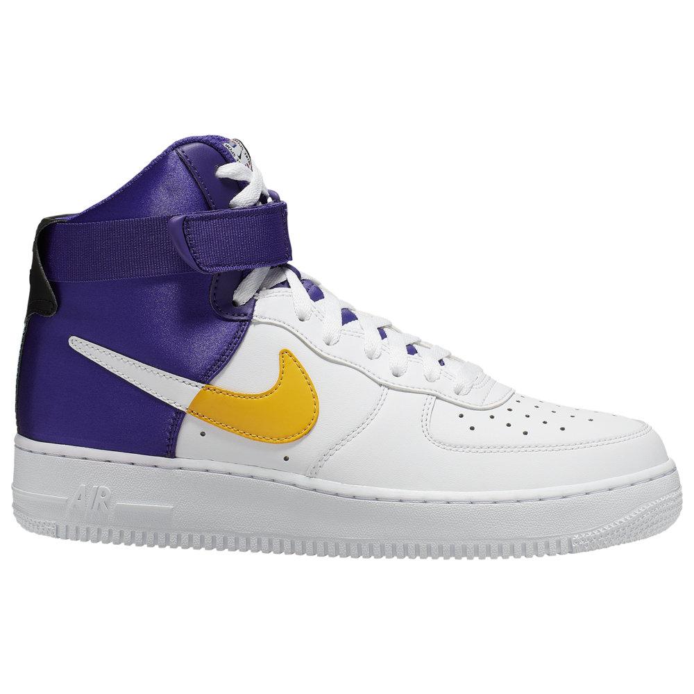 ナイキ Nike メンズ バスケットボール エアフォースワン シューズ・靴【Air Force 1 High LV8】White/Field Purple/Amarillo/Black