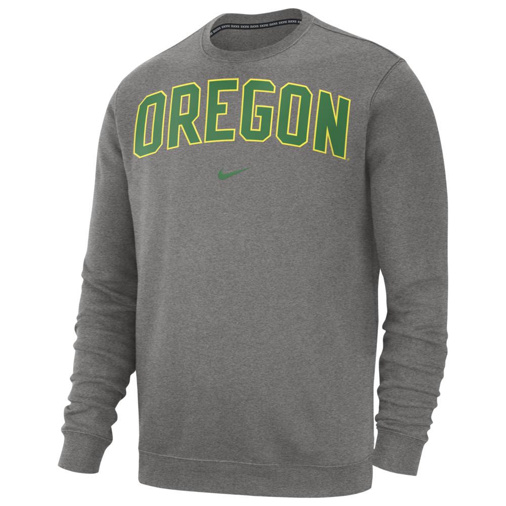 ナイキ Nike メンズ フリース トップス【College Club Fleece Crew】NCAA Oregon Ducks Dark Grey Heather