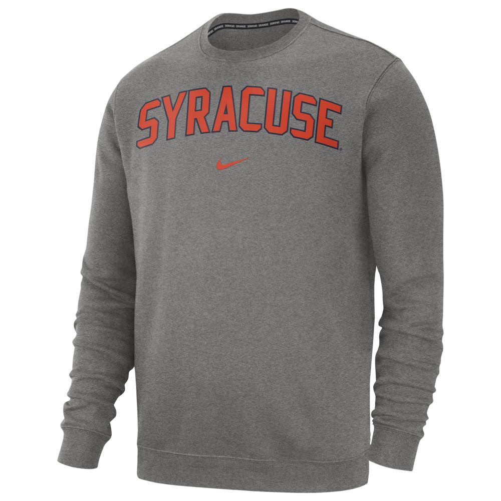 ナイキ Nike メンズ フリース トップス【College Club Fleece Crew】NCAA Syracuse Orange Dark Grey Heather