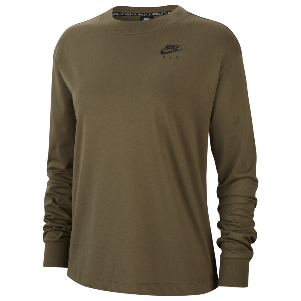ナイキ Nike レディース 長袖Tシャツ トップス【Air Top Long Sleeve】Medium Olive