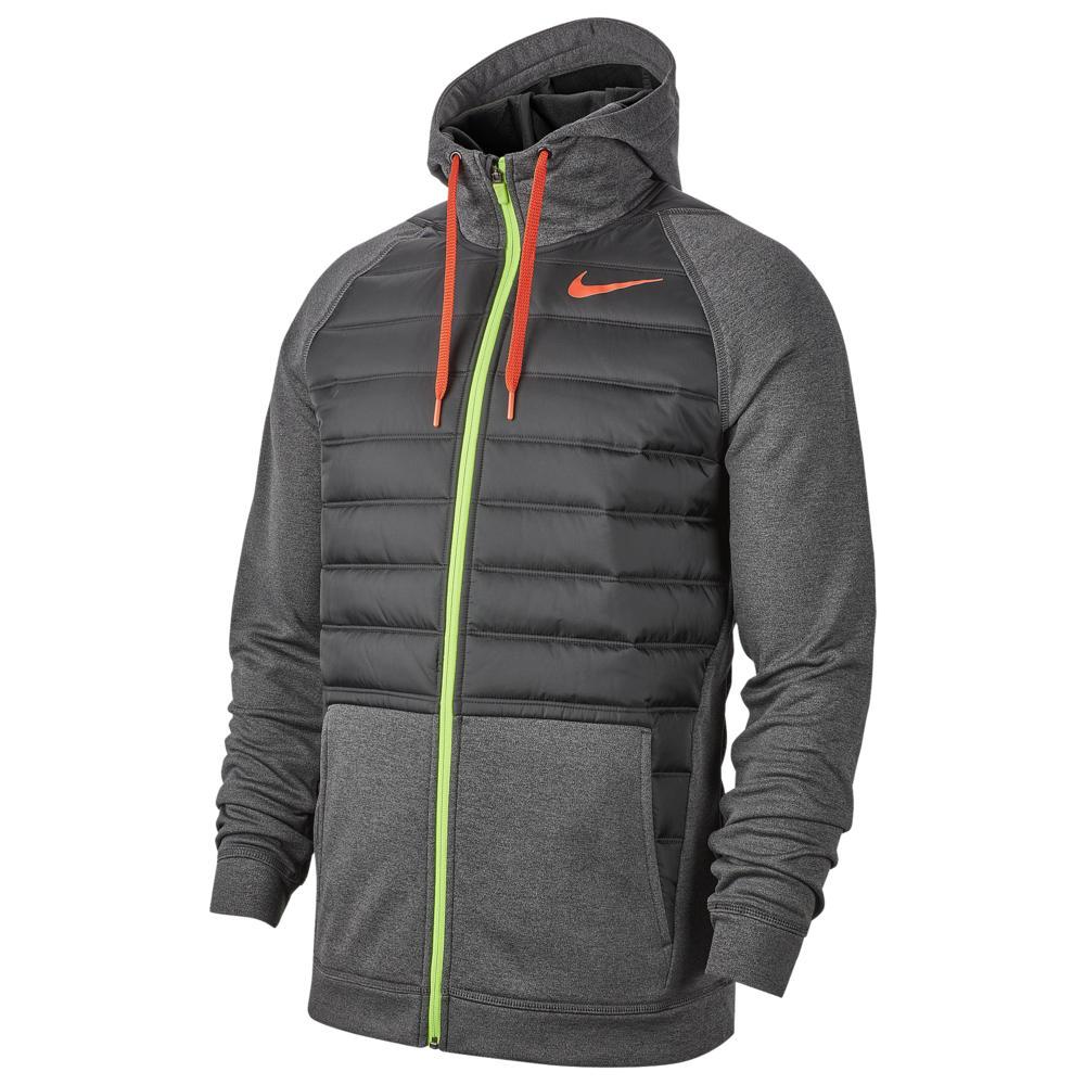 ナイキ Nike メンズ フィットネス・トレーニング ジャケット アウター【Therma F/Z Winterized Jacket】Black Heather/Black/Red