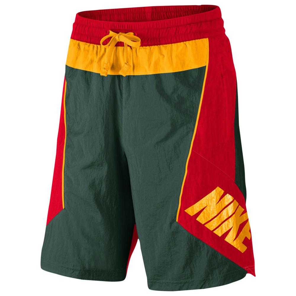 ナイキ Nike メンズ バスケットボール ショートパンツ ボトムス・パンツ【Throwback Shorts】Fir/University Red/University Gold