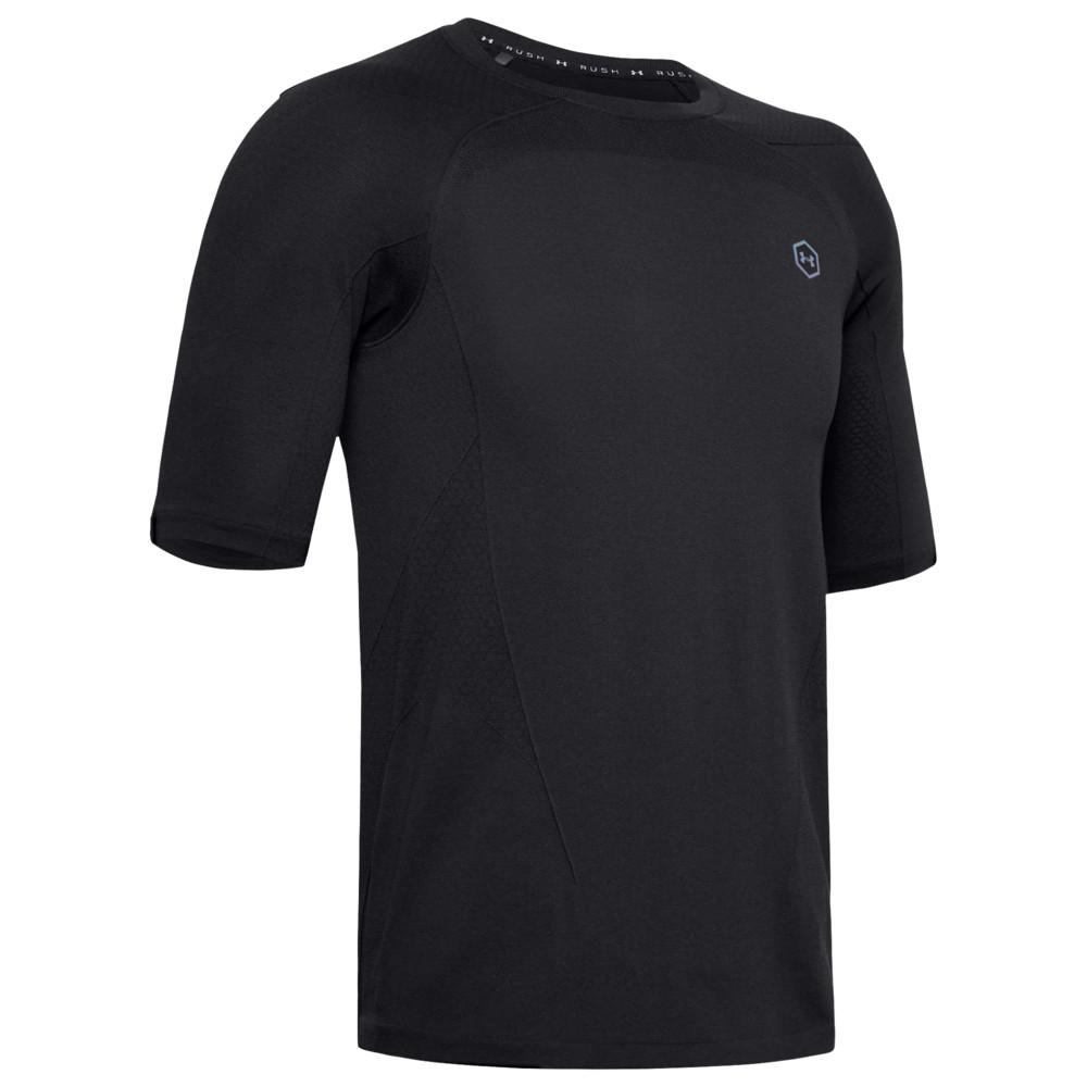 アンダーアーマー Under Armour メンズ フィットネス・トレーニング Tシャツ トップス【Rush HG Seamless Compression T-Shirt】Black/Black