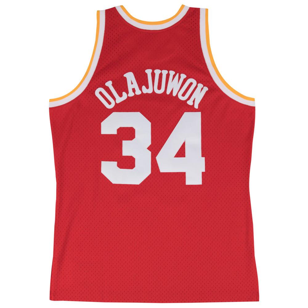ミッチェル&ネス Mitchell & Ness メンズ バスケットボール トップス【NBA Swingman Jersey】NBA Houston Rockets Hakeem Olajuwon Red to