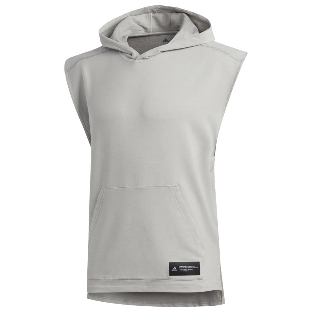 アディダス adidas メンズ フィットネス・トレーニング ノースリーブ パーカー トップス【TKO Sleeveless Hoodie】Medium Grey Heather