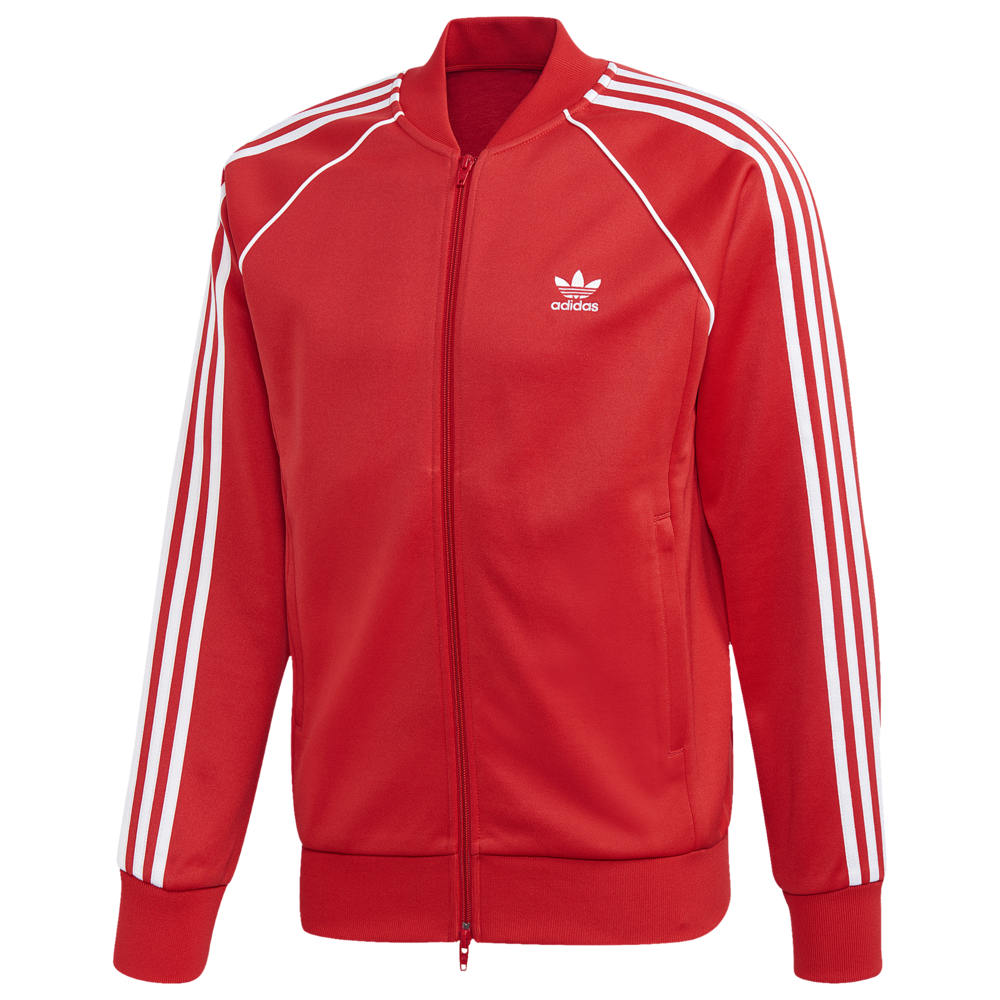 アディダス adidas Originals メンズ ジャージ アウター【Superstar Track Top】Lush Red/White