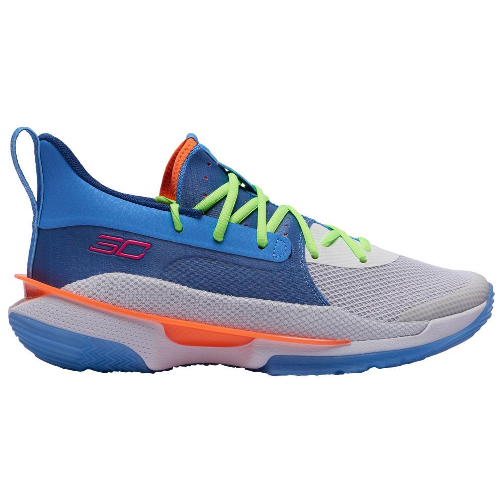 アンダーアーマー Under Armour メンズ バスケットボール シューズ・靴【Curry 7】Stephen Curry Water/White/American Blue