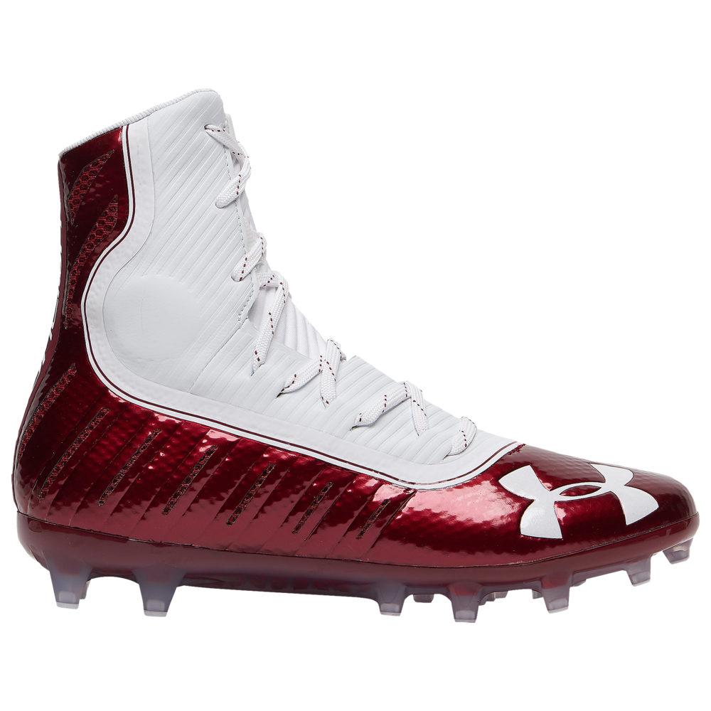 アンダーアーマー Under Armour メンズ アメリカンフットボール シューズ・靴【Highlight MC】Cardinal/White