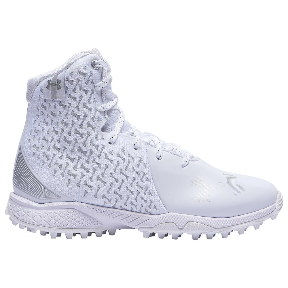 アンダーアーマー Under Armour レディース ラクロス シューズ・靴【Lacrosse Highlight Turf】White/White