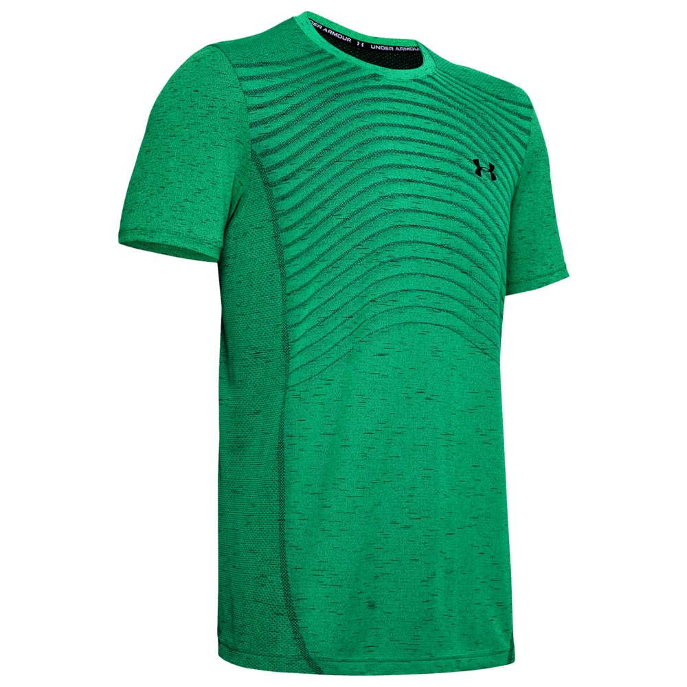アンダーアーマー Under Armour メンズ フィットネス・トレーニング Tシャツ トップス【Seamless Knit Wave T-Shirt】Vapor Green/Black