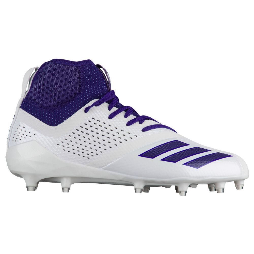 アディダス adidas メンズ アメリカンフットボール シューズ・靴【adiZero 5-Star 7.0 Mid】White/Collegiate Purple/Collegiate Purple