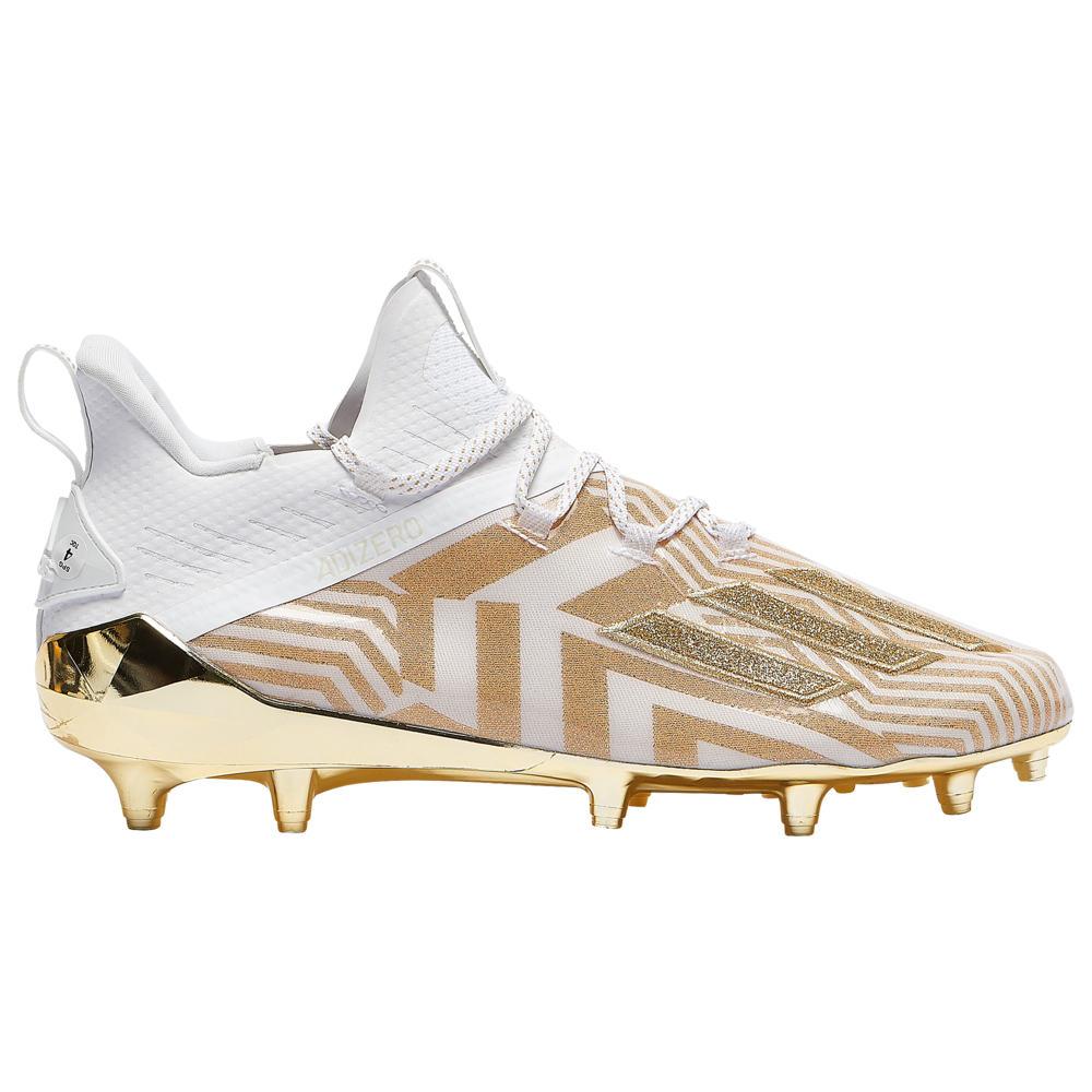 アディダス adidas メンズ アメリカンフットボール シューズ・靴【adiZero】White/Gold Metallic/Gold Metallic X Anniversary - Prizm