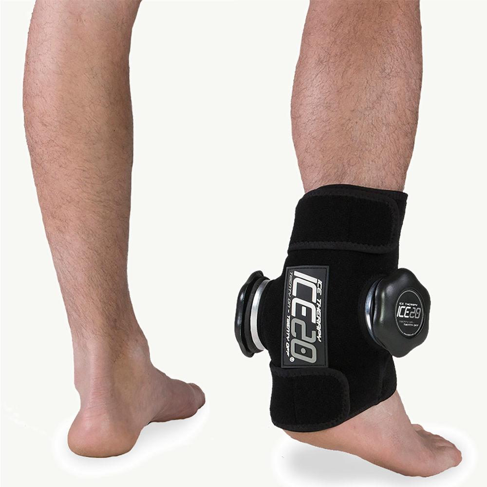 アイス20 Ice20 ユニセックス フィットネス・トレーニング 【Double Ankle Ice Compression Wrap】Black