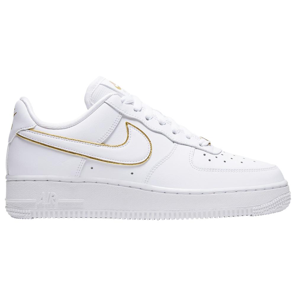 ナイキ Nike レディース バスケットボール エアフォースワン シューズ・靴【Air Force 1 '07 Low】White/White/Metallic Gold Essential/Glam Dunk Pack