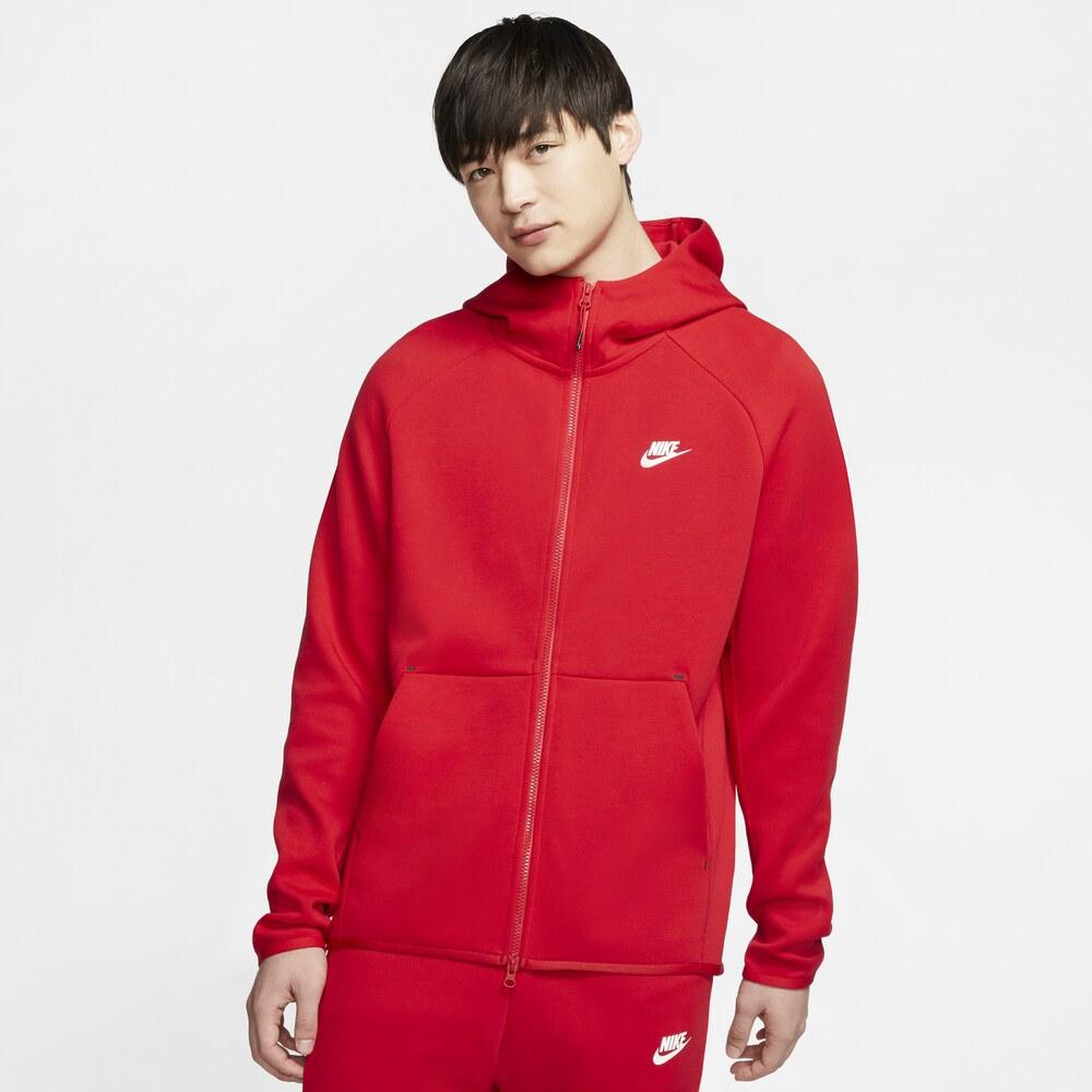 ナイキ Nike メンズ フリース トップス【Tech Fleece Full-Zip Hoodie】University Red/White