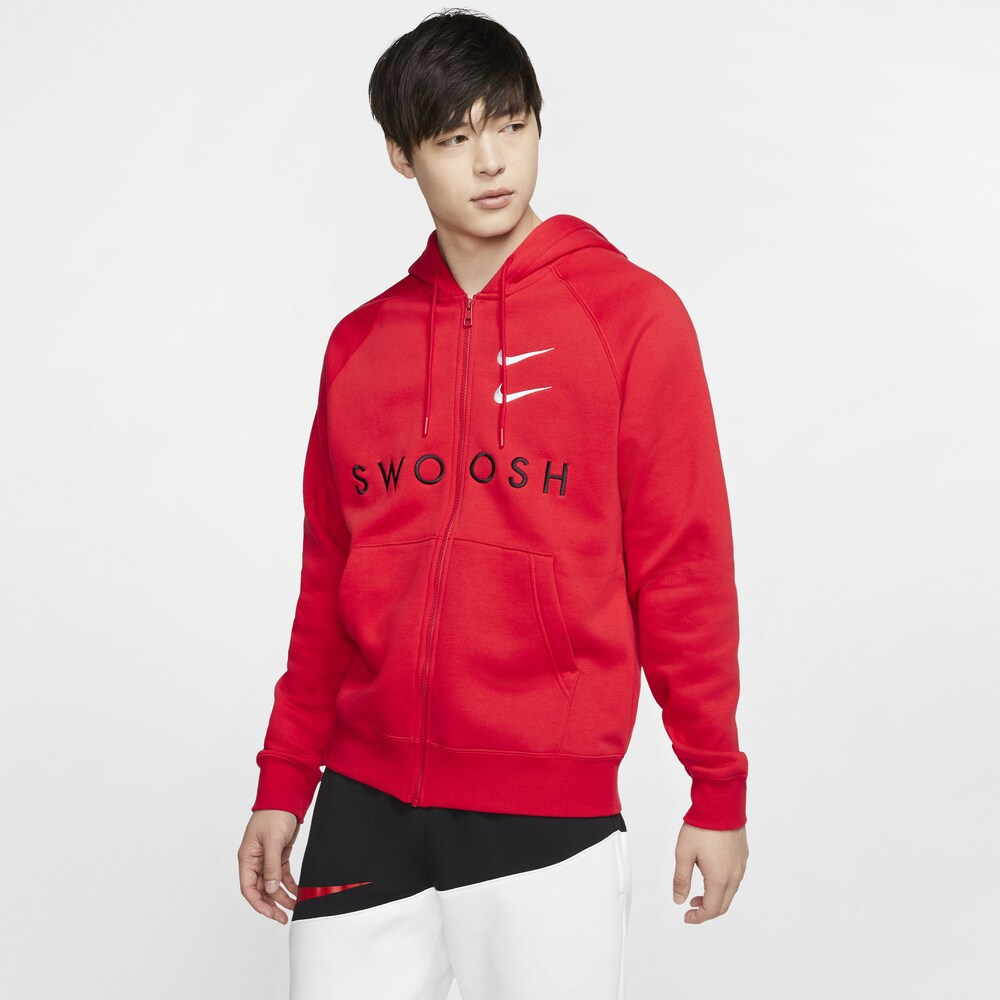 ナイキ Nike メンズ パーカー トップス【Double Swoosh F/Z Hoodie】University Red/White