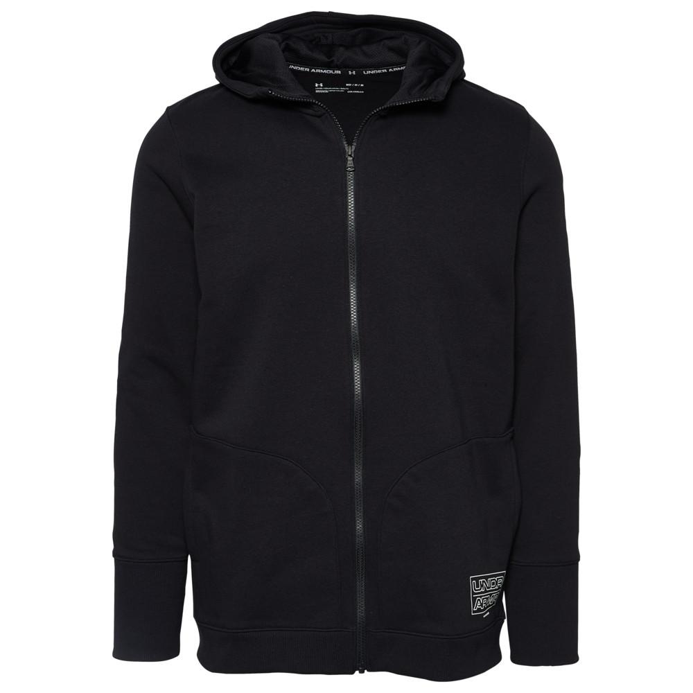 アンダーアーマー Under Armour メンズ フリース トップス【Baseline Fleece F/Z Hoodie】Black/Pitch Grey