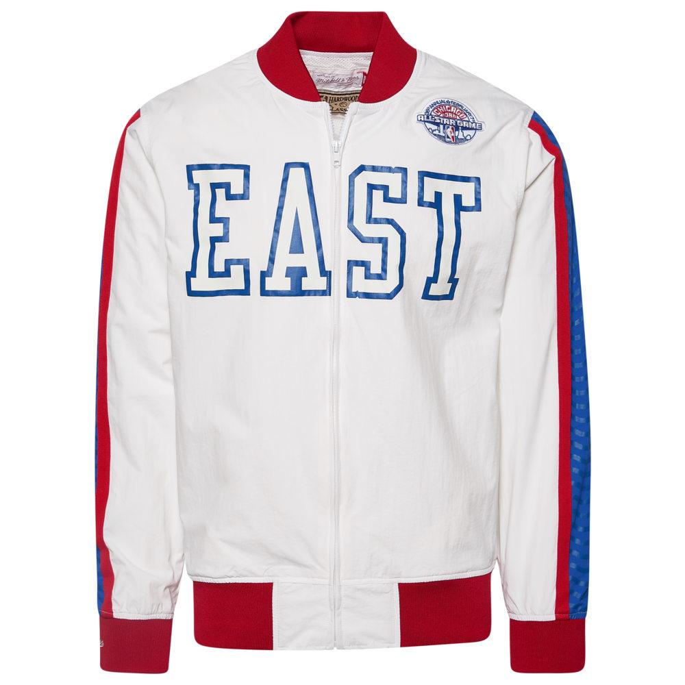 ミッチェル&ネス Mitchell & Ness メンズ ジャケット アウター【NBA All-Star Full Zip Jacket】NBA NBA All-Star White East