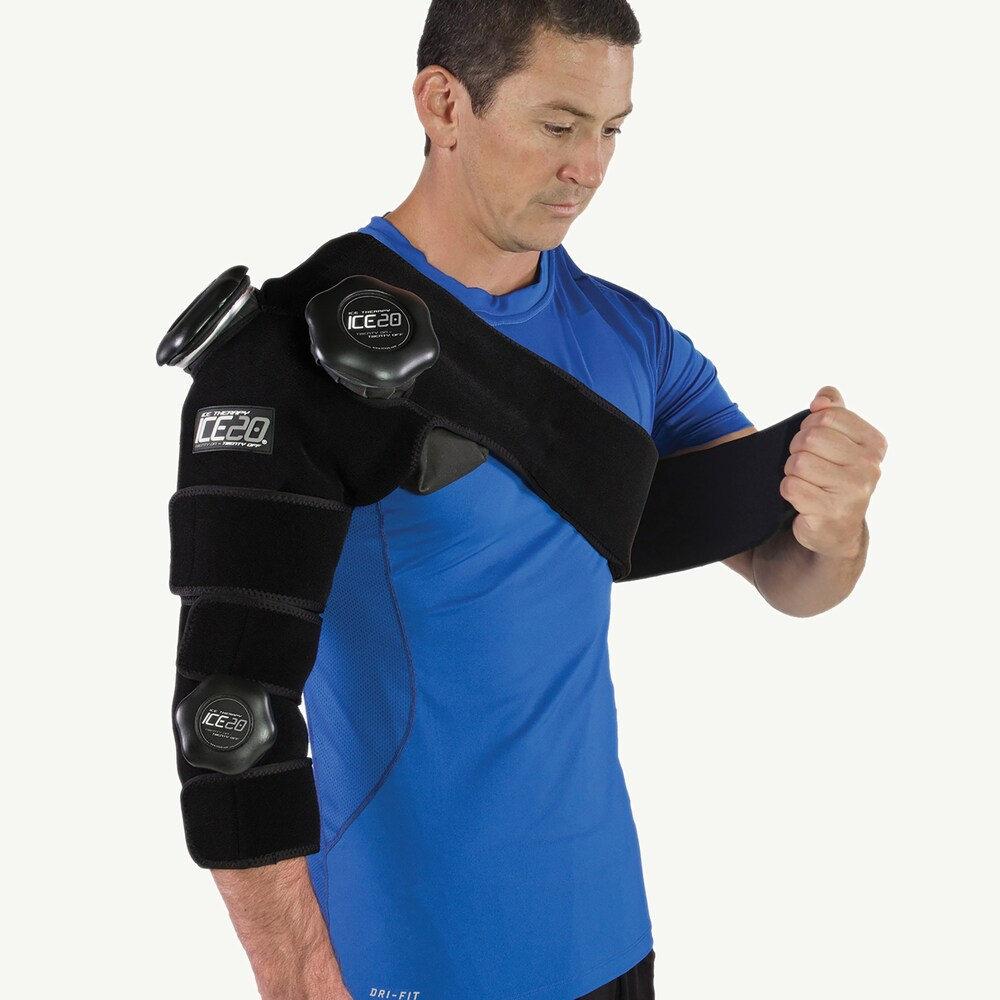 アイス20 Ice20 ユニセックス フィットネス・トレーニング 【Combo Arm Ice Compression Wrap】Black