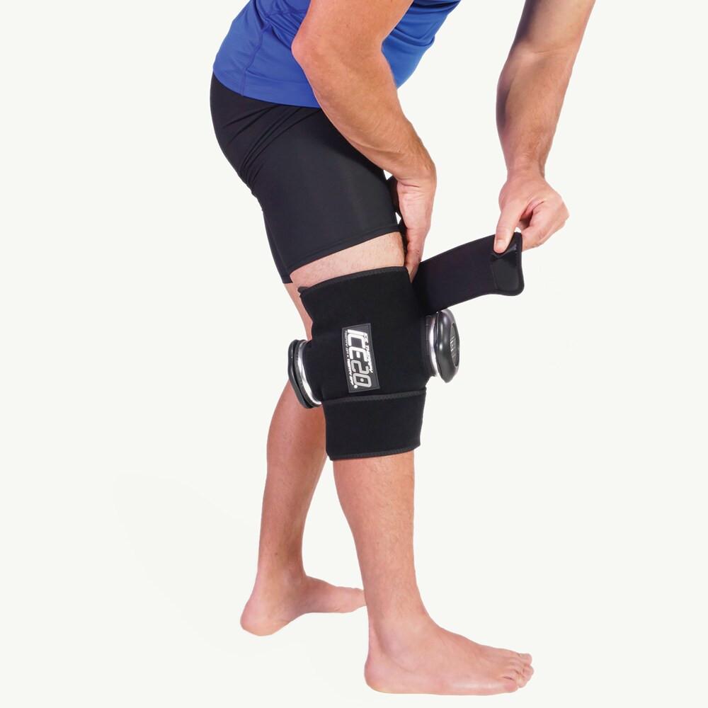 アイス20 Ice20 ユニセックス フィットネス・トレーニング 【Double Knee Ice Compression Wrap】Black